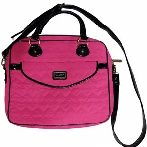 Betsey Johnson New York Quilted Pink Laptop Bag